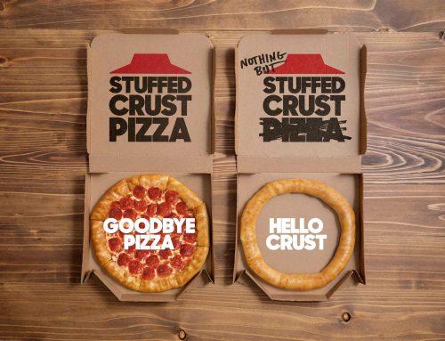 Pizza Hut lanza un aro de corteza para celebrar 25 años de su «Stuffed Crust»