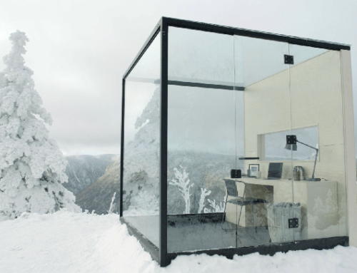 Una oficina en medio de la nieve